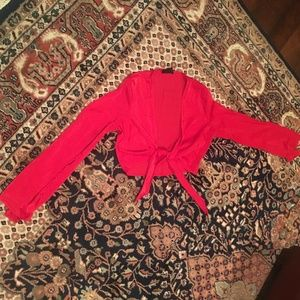 Silky Red Blouse
